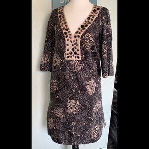 REBECCA TAYLOR Floral beaded dress